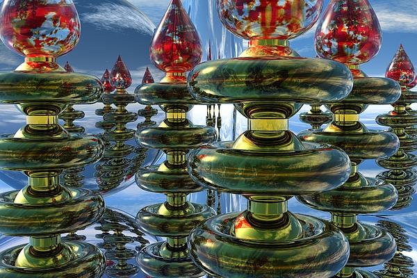 Bryce Digital Art - Shiny Things by Lyle Hatch