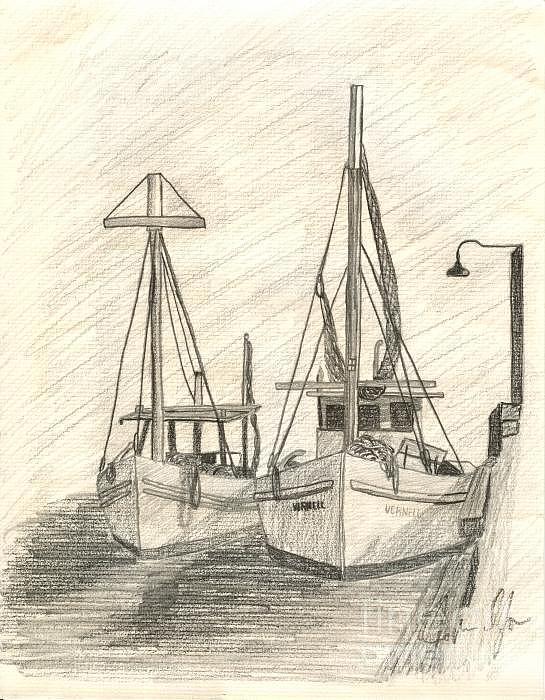Still Life Drawing - Ship by Karthik