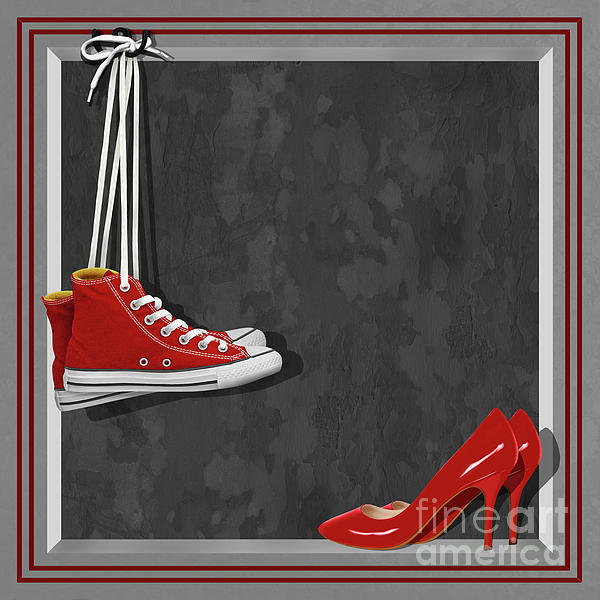 Basketball Shoes Digital Art - Shoes For Every Occasion by Monika Juengling