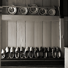 Black And White Photograph - Shoes From Holland by Antonie Woordes