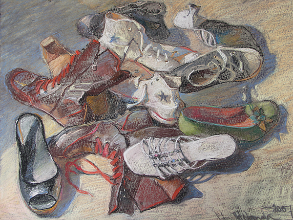 Shoes Painting by Jelena Stepanova-Abate