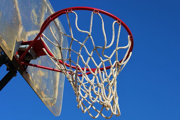 Net Photograph - Shootin Hoops by Karen Scovill