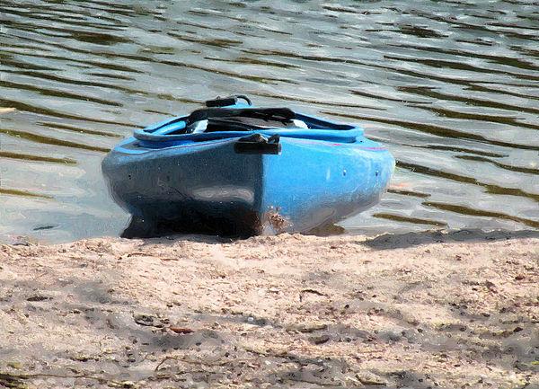 Kayak Photograph - Shore Break by Rosalie Scanlon