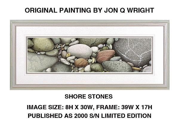 Jon Q Wright Painting - Shore Stones by Jon Q Wright