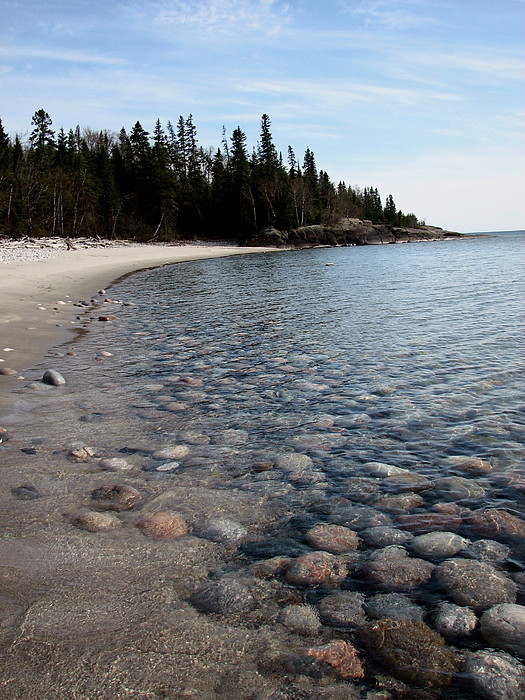 Lake Superior Photograph - Shoreline Serenity by Laura Wergin Comeau