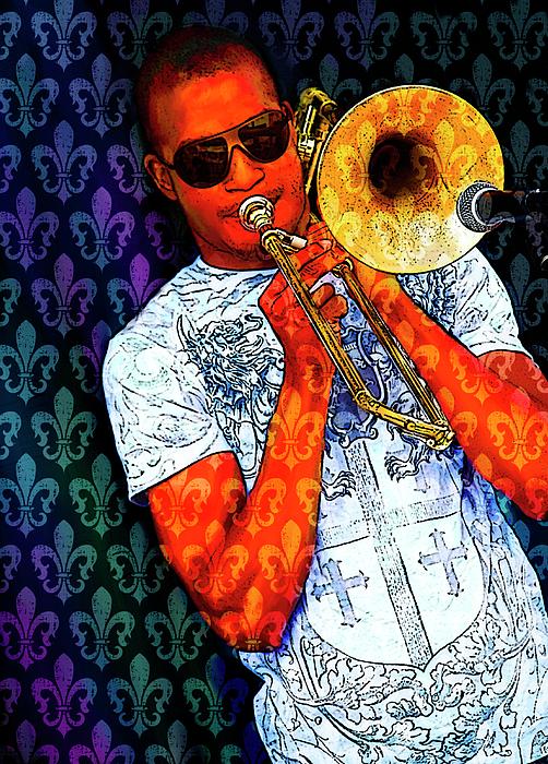 Trombone Photograph - Shorty by Tammy Wetzel