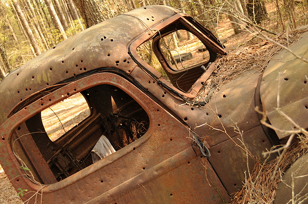 Old Truck Photograph - Shot To Rot by Maureen Norcross