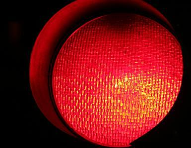 Red Traffic Light Photograph - Should I Stay Or Should I Go by Eduardo Hugo