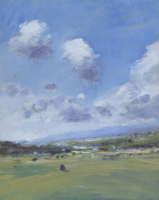 Clouds Painting - Shower Clouds Over The Yar Valley by Alan Daysh