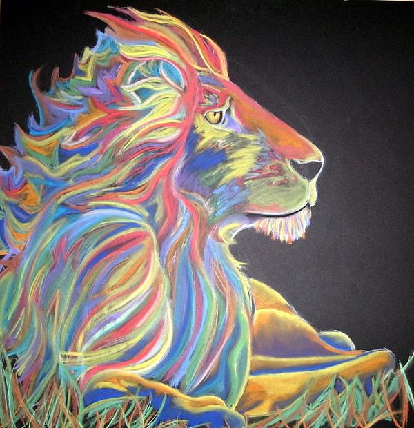 Lion Pastel - Shumba by Steven Santee
