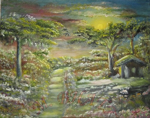 Nature Painting - Side Way by M Bhatt