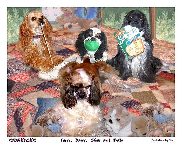 Dogs Painting - Sidekicks by Sue Alandar
