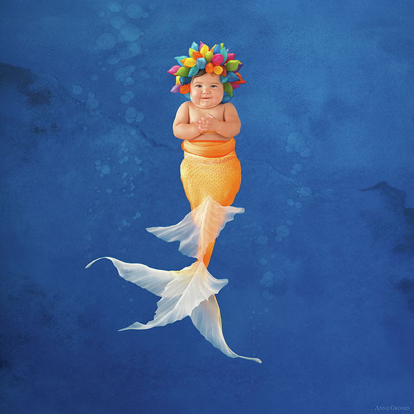 Under The Sea Photograph - Sienna As A Mermaid by Anne Geddes