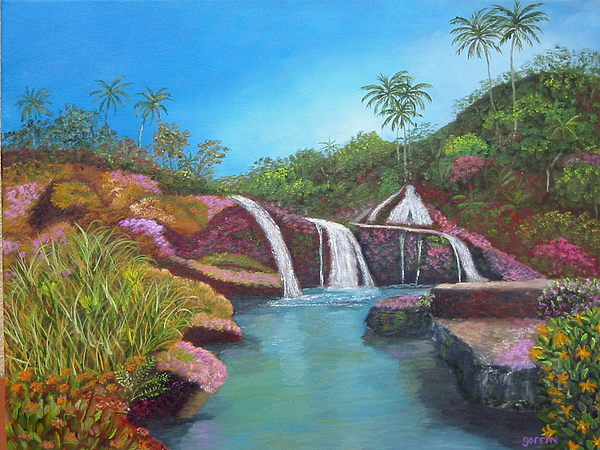 Landscape Painting - Sierra Del Escambray by Roger E Gorrin
