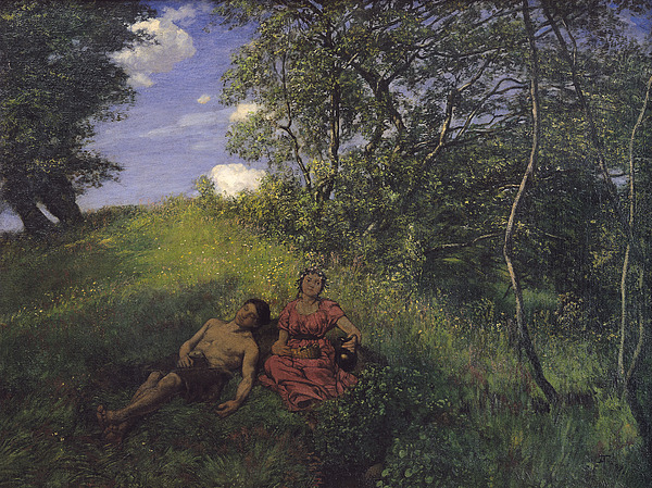 Siesta Painting - Siesta by Hans Thoma