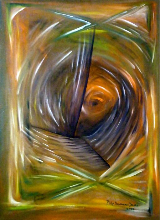 Abstract Painting - Sight by Philip Okoro