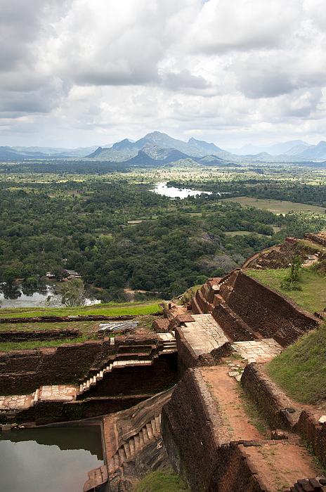 Ancient Photograph - Sigiriya Ruins by Jane Rix