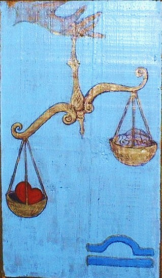 Decorative Greeting Card - Signs Of Zodiac - Libra by Rae Chichilnitsky