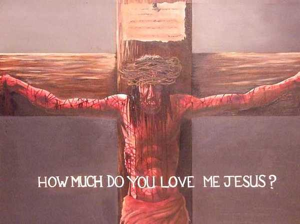 Jesus Painting - Silent Answer by William Parsons