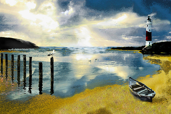 Ocean Painting - Silent Ocean by Anne Weirich
