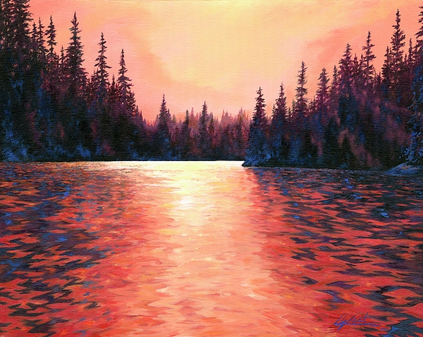 River Scenes Painting - Silent Treasures by Lucy West