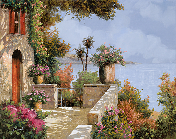 Seascape Painting - Silenzio by Guido Borelli