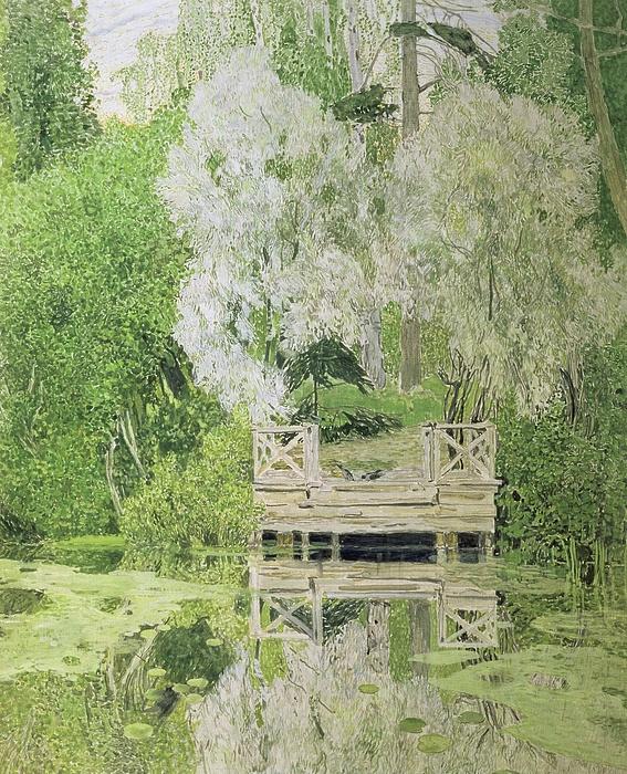 Silver Painting - Silver White Willow by Aleksandr Jakovlevic Golovin