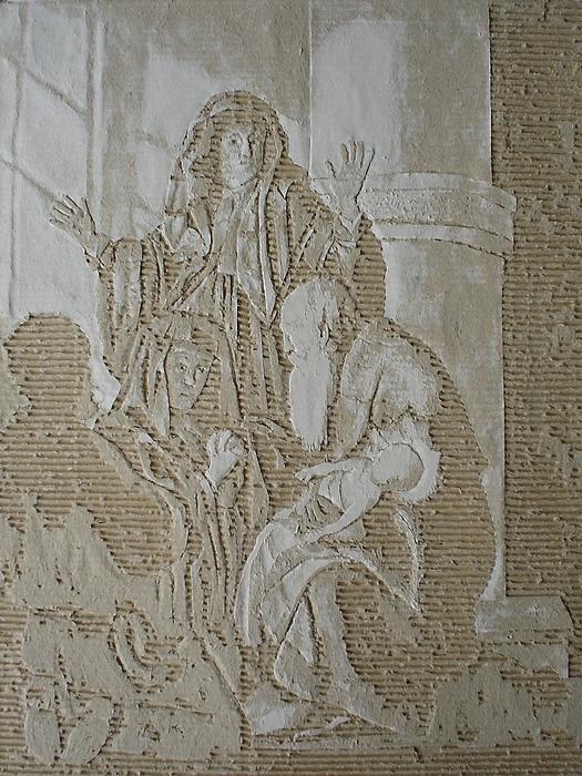 Cardboard Drawing - Simeon In De Tempel by Dragan  Despotovic