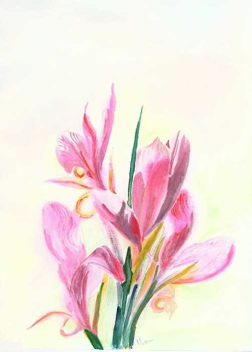 Flower Painting - Simple Beauty by Mousumi Mani