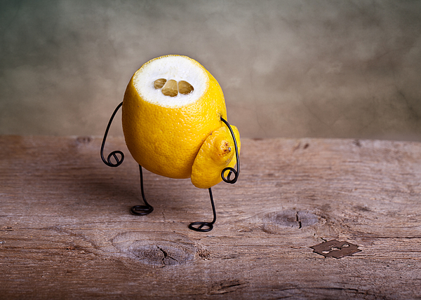 Lemon Photograph - Simple Things 12 by Nailia Schwarz