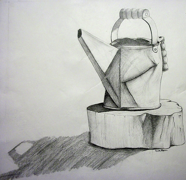Pail Drawing - Simplicity by Leeah Borner