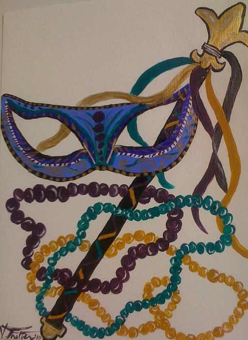 Mardi Gras Painting - Simply Mardi Gras by Veronica Trotter