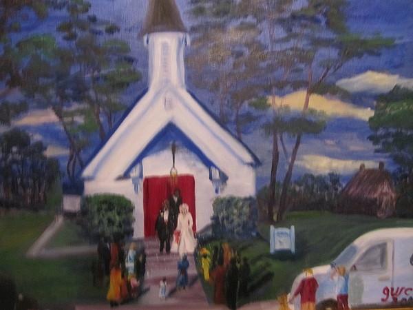 Church Painting - Simpson Christian Community Church by Gloria Condon