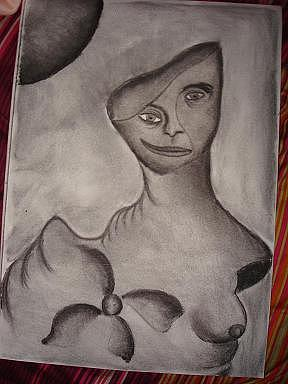 Gris Drawing - Sin Titulo by Dunia Sanchez Padron
