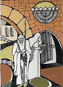 Sinagoge Painting by Maya Green