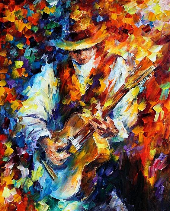 Afremov Painting - Sing My Guitar by Leonid Afremov
