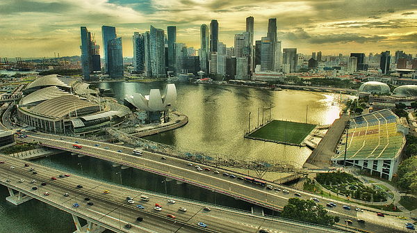 Fullerton Photograph - Singapore City On The Move by Paul W Sharpe Aka Wizard of Wonders