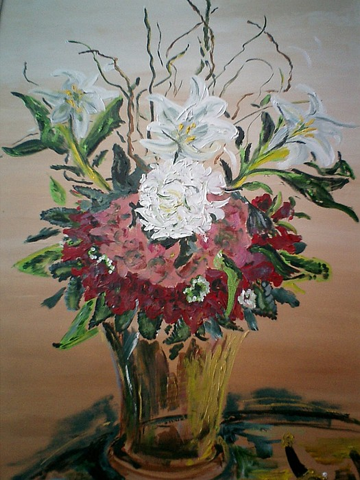 Still Life Painting - Singapore Flowers by Christopher Green