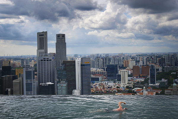 Singapore Photograph - Singapore Swimmer by Nina Papiorek