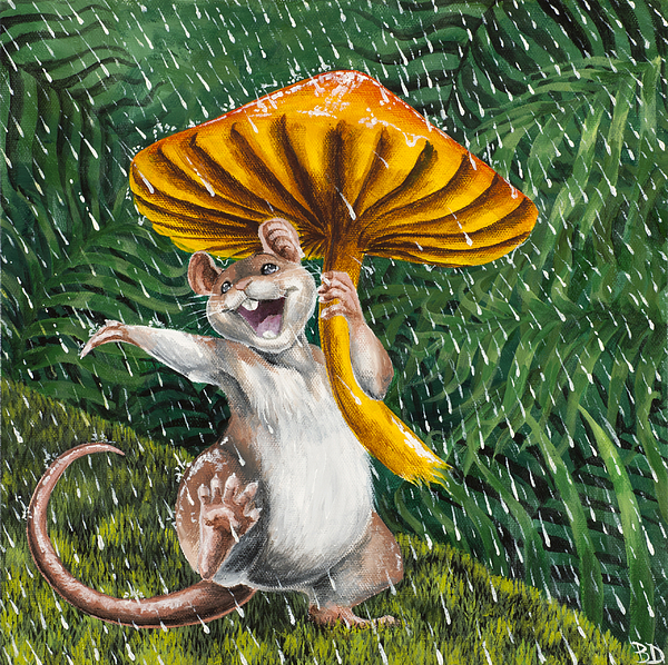 Singing In The Rain Painting by Beth Davies