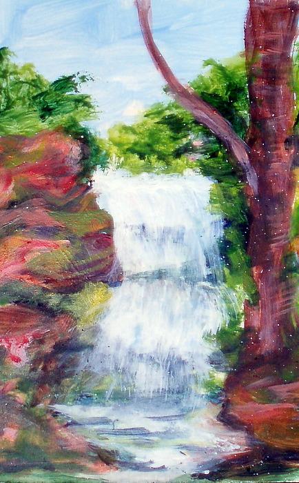 Falls Painting - Singing Water by Lia  Marsman