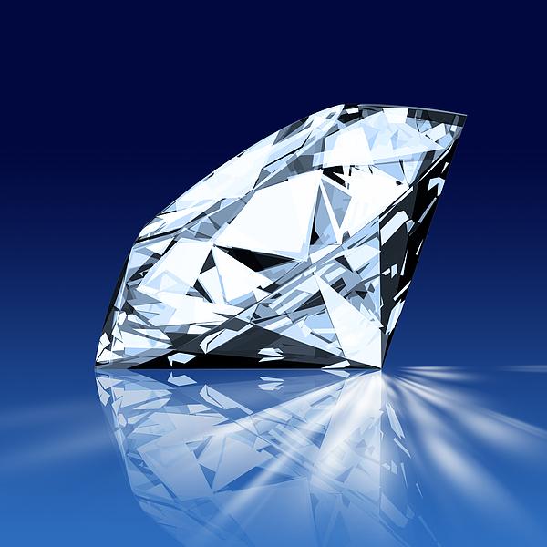 Background Photograph - Single Blue Diamond by Setsiri Silapasuwanchai