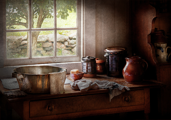 Hdr Photograph - Sink - The Morning Chores by Mike Savad