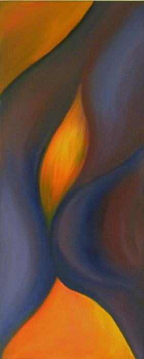 Brilliant Painting - Sinuous Curves by Fanny Diaz