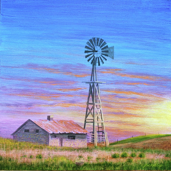 Sioux County Sunrise Painting by J W Kelly