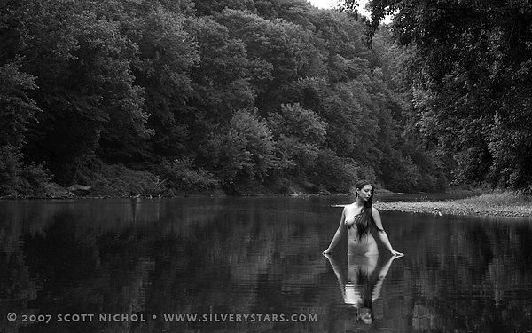 Female Photograph - Sister Dee - Monacacy River by Scott Nichol