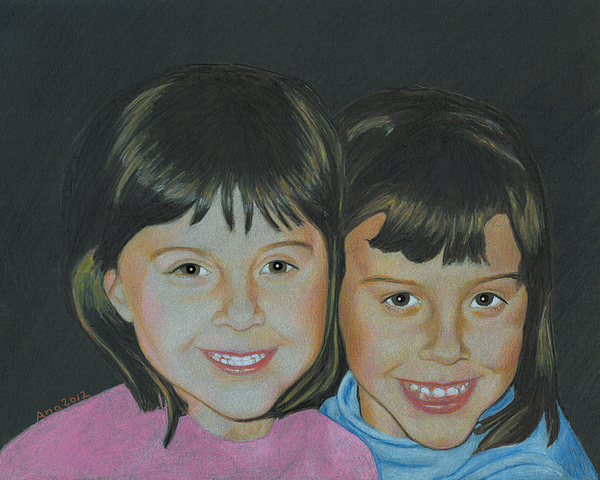 Sisters Drawing - Sisters  by Ana Tirolese