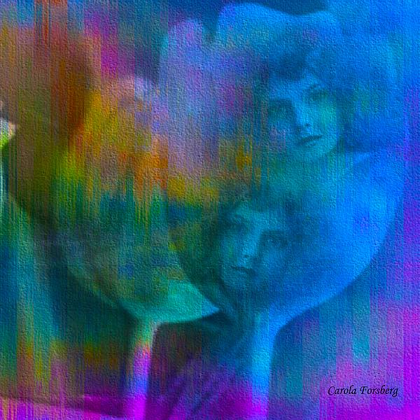 Sisters Digital Art by Carola Ann-Margret Forsberg