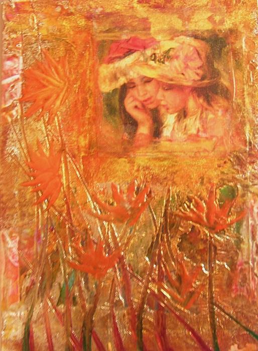 Encaustic Painting - Sisters by John Vandebrooke