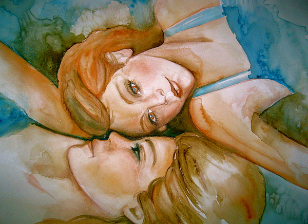 Painting Painting - Sisters by L Lauter